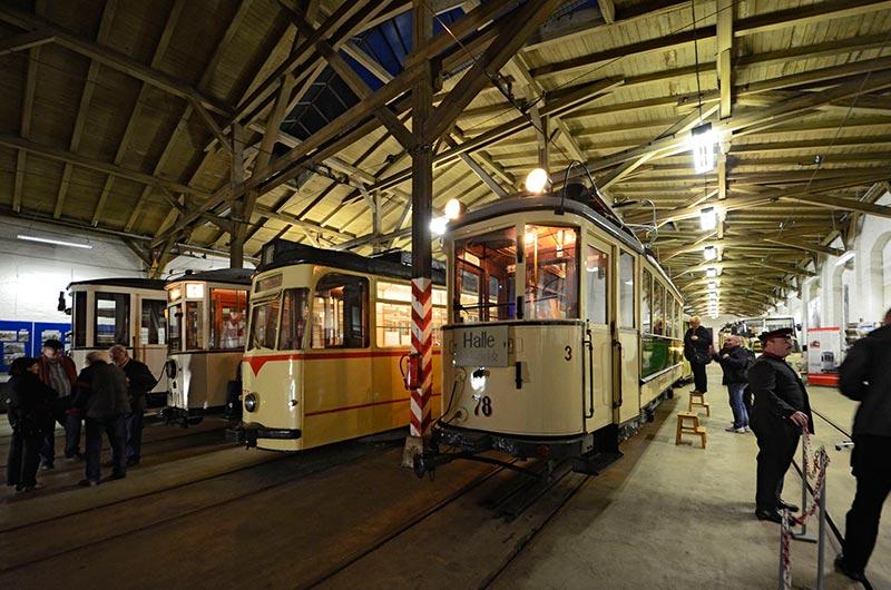 Historisches Straßenbahndepot in Halle